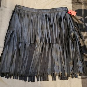 H&M Leather Tasseled Skirt